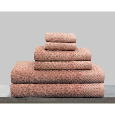 Kempsey 6 Piece Towel Set Color: New Rose