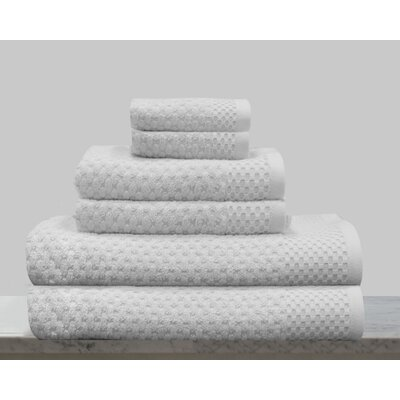 Kempsey 6 Piece Towel Set Color: Optic White