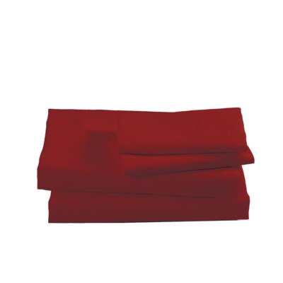 Sheet Set Color: Garnet, Size: King