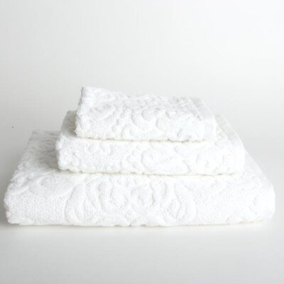 Sanderson 3 Piece Towel Set Color: White