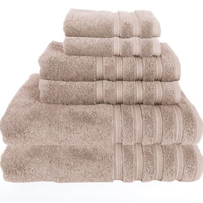 Gilston 6 Piece Towel Set Color: Potabella Beige