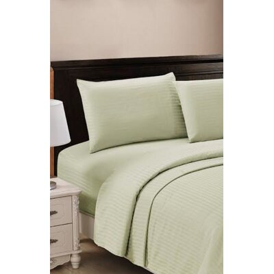 320 Thread Count 100% Egyptian Quality Cotton Sheet Set Color: Sage, Size: Queen