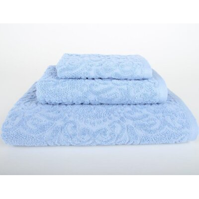 Sanderson 3 Piece Towel Set Color: Vista Blue