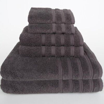 Gilston 6 Piece Towel Set Color: Dark Gray