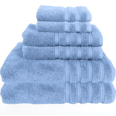 Gilston 6 Piece Towel Set Color: Vista Blue