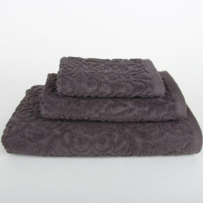 Sanderson 3 Piece Towel Set Color: Dark Gray