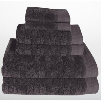 Darwin 6 Piece Towel Set Color: Dark Gray