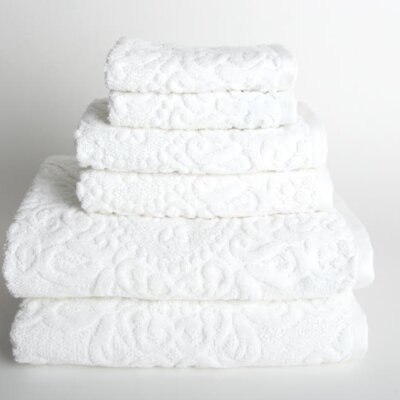 Sanderson 6 Piece Towel Set Color: White