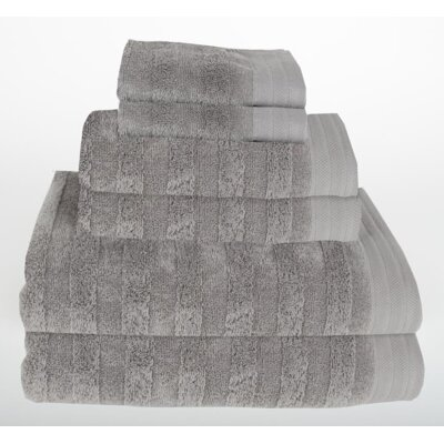 Darwin 6 Piece Towel Set Color: Light Gray