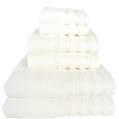 Gilston 6 Piece Towel Set Color: White