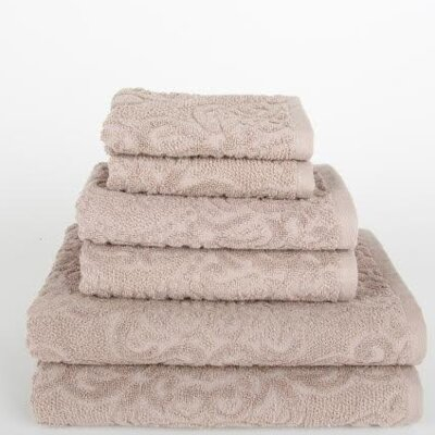 Sanderson 6 Piece Towel Set Color: Portabella Beige