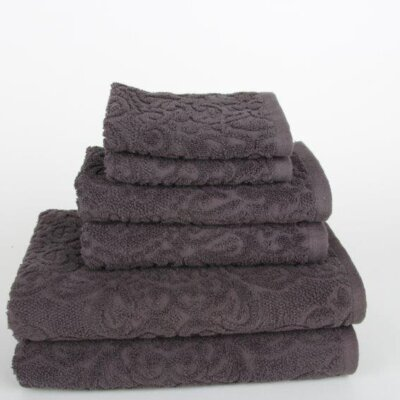 Sanderson 6 Piece Towel Set Color: Dark Gray
