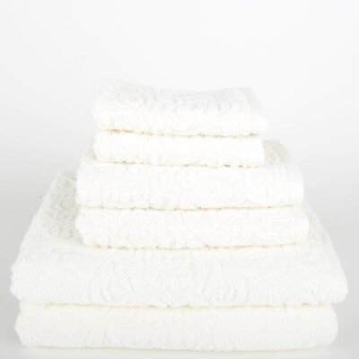 Sanderson 6 Piece Towel Set Color: Ivory