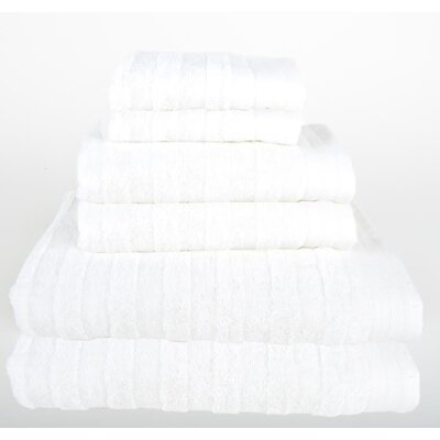 Darwin 6 Piece Towel Set Color: White