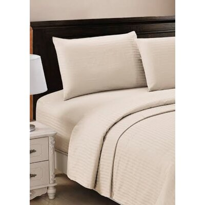 320 Thread Count 100% Egyptian Quality Cotton Sheet Set Size: Queen, Color: Linen