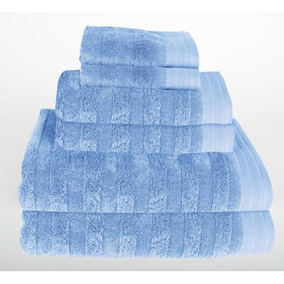 Darwin 6 Piece Towel Set Color: Vista Blue