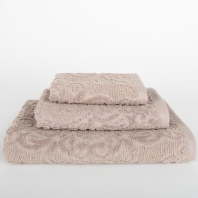 Sanderson 3 Piece Towel Set Color: Portabella Beige