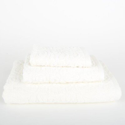 Sanderson 3 Piece Towel Set Color: Ivory