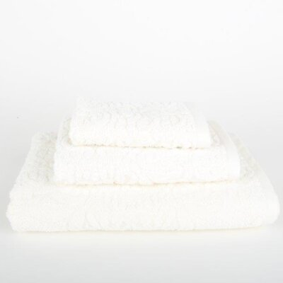 Sanderson 3 Piece Bath Towel Set Color: Ivory