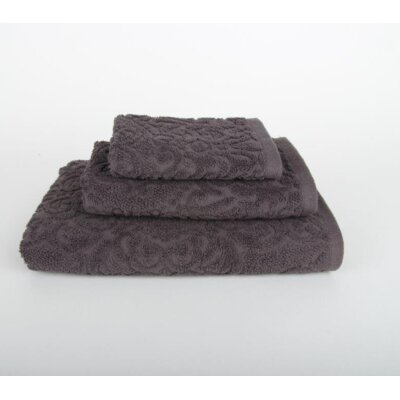 Sanderson 3 Piece Bath Towel Set Color: Dark Gray