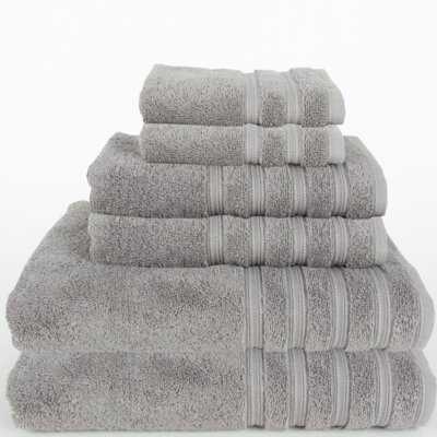 Gilston 6 Piece Towel Set Color: Light Gray
