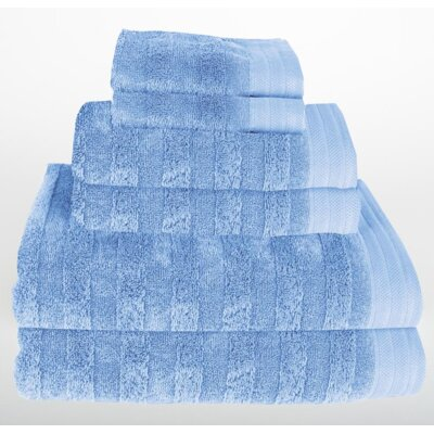 Darwin 6 Piece Towel Set Color: Vista Blue