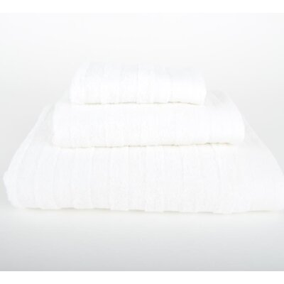 Darwin 3 Piece Bath Towel Set Color: White