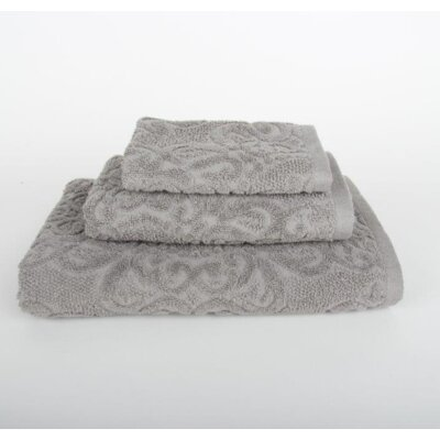 Sanderson 3 Piece Bath Towel Set Color: Light Gray