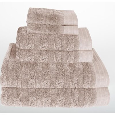 Darwin 6 Piece Towel Set Color: Portabella Beige