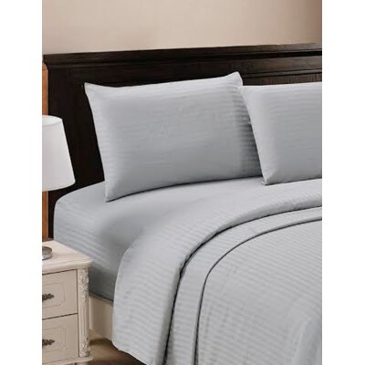 320 Thread Count 100% Egyptian Quality Cotton Sheet Set Size: Full, Color: Platinum Gray
