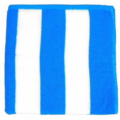 Cabana Striped Velour Beach Towel Color: Light Blue