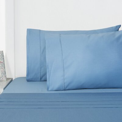 Browns 4 Piece Sheet Set Size: King, Color: Blue