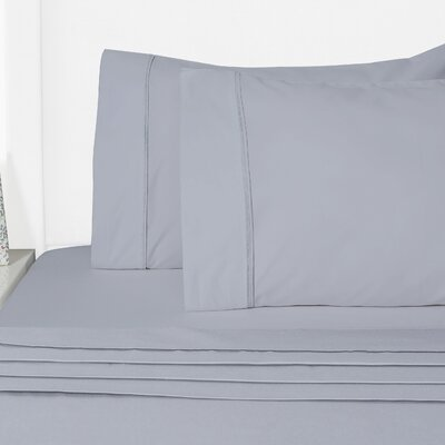 Browns 4 Piece Sheet Set Size: Queen, Color: Gray