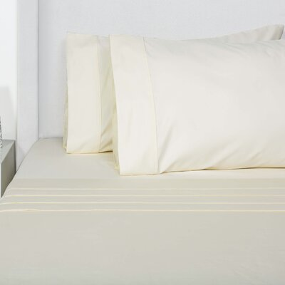 Browns 4 Piece Sheet Set Size: King, Color: Ivory