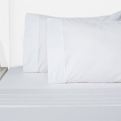 Browns 4 Piece Sheet Set Size: King, Color: White