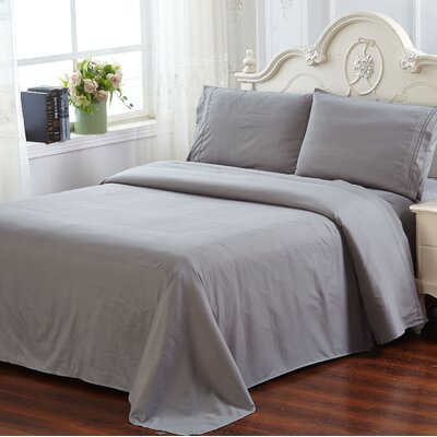 Lazenby 100 GSM Microfiber Sheet Set Size: Twin, Color: Gray
