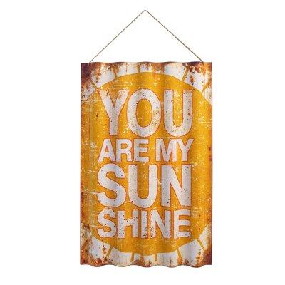 Sunshine Metal Textual Art
