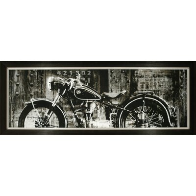 Open Highway Motorcycle Framed Photographic Print BA122411