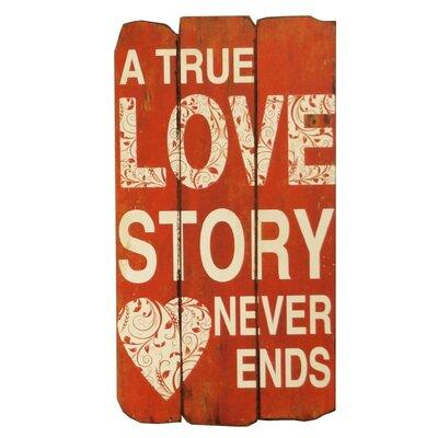 True Love Story Wood Sign Wall D�cor BA9361