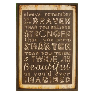 Twice As Beautiful Wood Sign Framed Textual Art