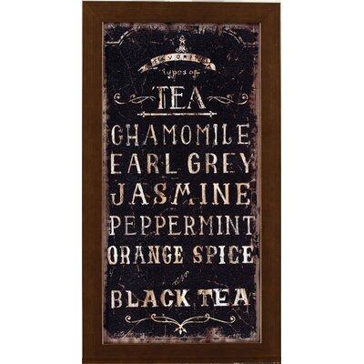Teas Of The World Framed Textual Art