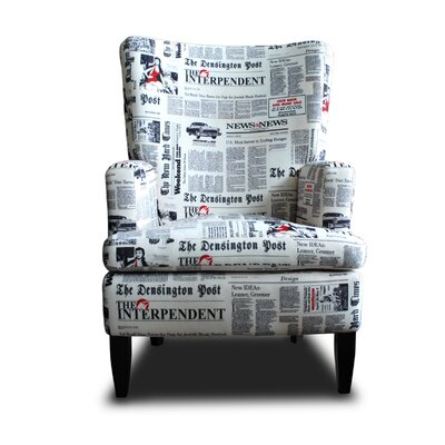 Ohrensessel Nancy Newspaper | Wohnzimmer > Sessel > Ohrensessel | Holz - Teilmassiv | YANO