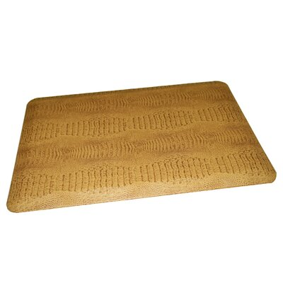 Anti-Fatigue Comfort Kitchen Mat Rug Size: 2 x 4, Color: Reddish Brown Accented Light Tan
