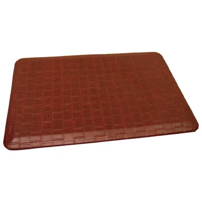 Anti-Fatigue Comfort Kitchen Mat Mat Size: 2 x 6, Color: Rich Reddish