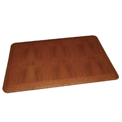 Anti-Fatigue Comfort Kitchen Mat Color: Burnt Orangish Dark Tan, Rug Size: 2 x 4