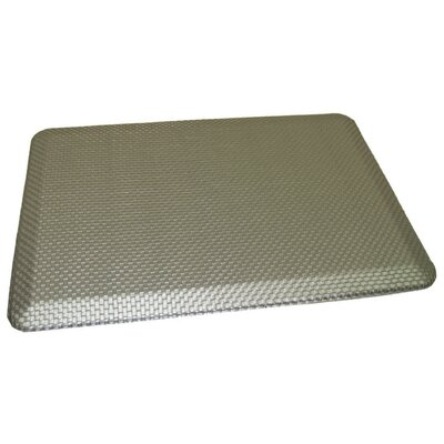 Anti-Fatigue Comfort Kitchen Mat Rug Size: 2 x 3, Color: Metallic Silver