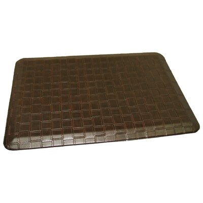 Anti-Fatigue Comfort Kitchen Mat Rug Size: 2 x 4, Color: Rich Dark Brown