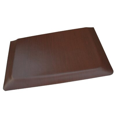 Soft Woods Anti-Fatigue Comfort Kitchen Mat Rug Size: 2 x 3, Color: Dark Brown