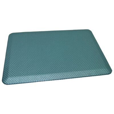 Anti-Fatigue Comfort Kitchen Mat Mat Size: 2 x 4, Color: Metallic Ocean Blue
