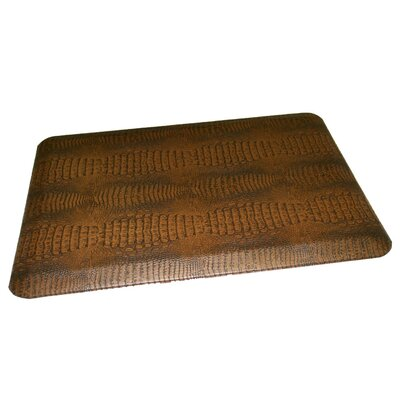 Anti-Fatigue Comfort Kitchen Mat Mat Size: 2' x 3', Color: Dark Brown Accent Medium Brown